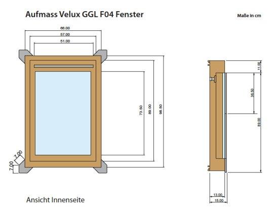 Aufmass Dachfenster Velux GGL F04 Moritz Moessnang